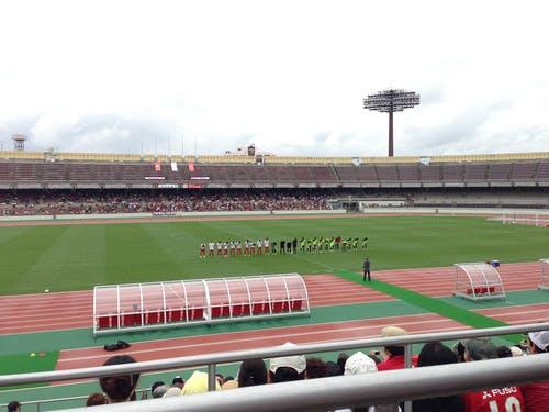 浦和レッズ後援会 設立20周年記念式典 トレーニングマッチ開始前の様子