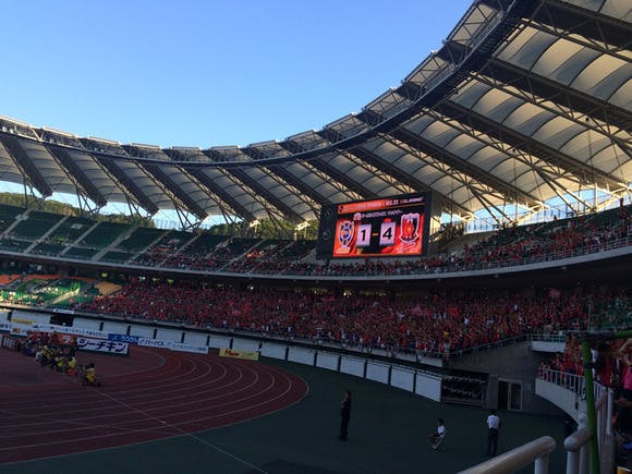 2014 Jリーグ第23節 エコパスタジアム アウェー 清水エスパルス戦