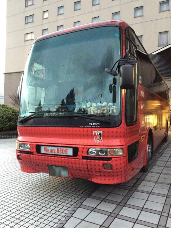 鳥栖で泊まったホテルに浦和レッズ選手バス