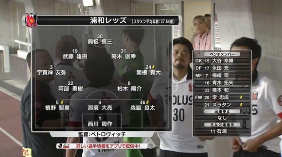2015 Jリーグ 2ndステージ 第4節 パロマ瑞穂スタジアム アウェー 名古屋グランパス戦