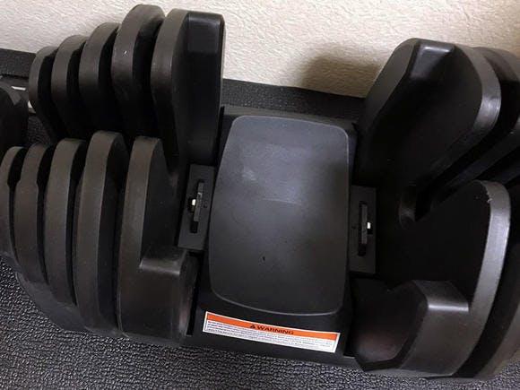 アジャスタブルダンベル(40kg) - 台座に残ったおもり