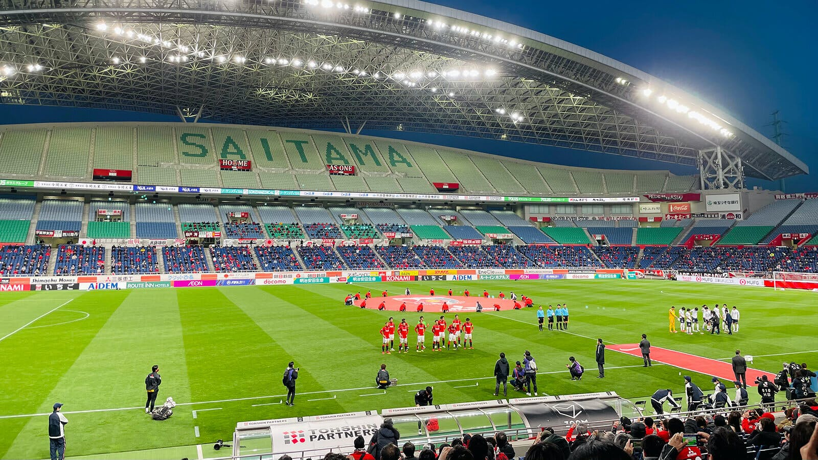 2021 Jリーグ 第3節 埼玉スタジアム2002 横浜FC戦 試合前