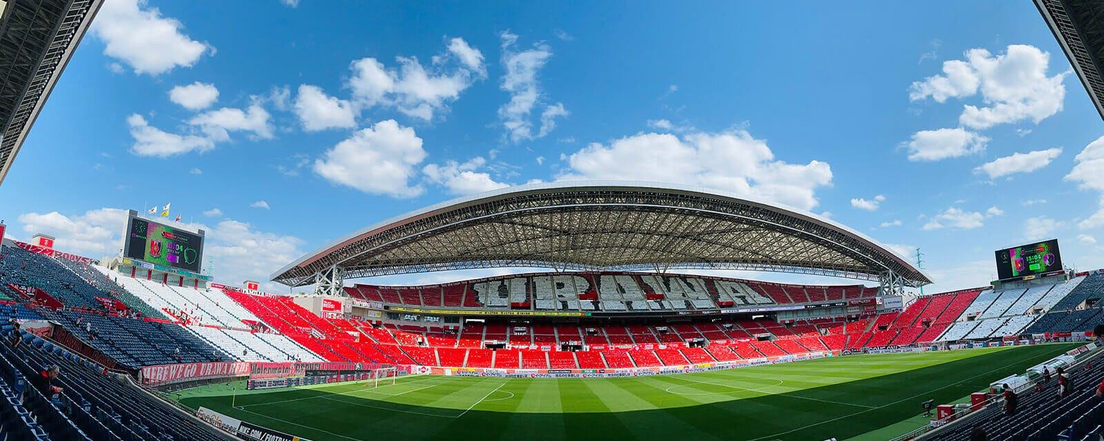 2021 Jリーグ 第7節 埼玉スタジアム2002 鹿島アントラーズ戦 試合前スタジアムの様子