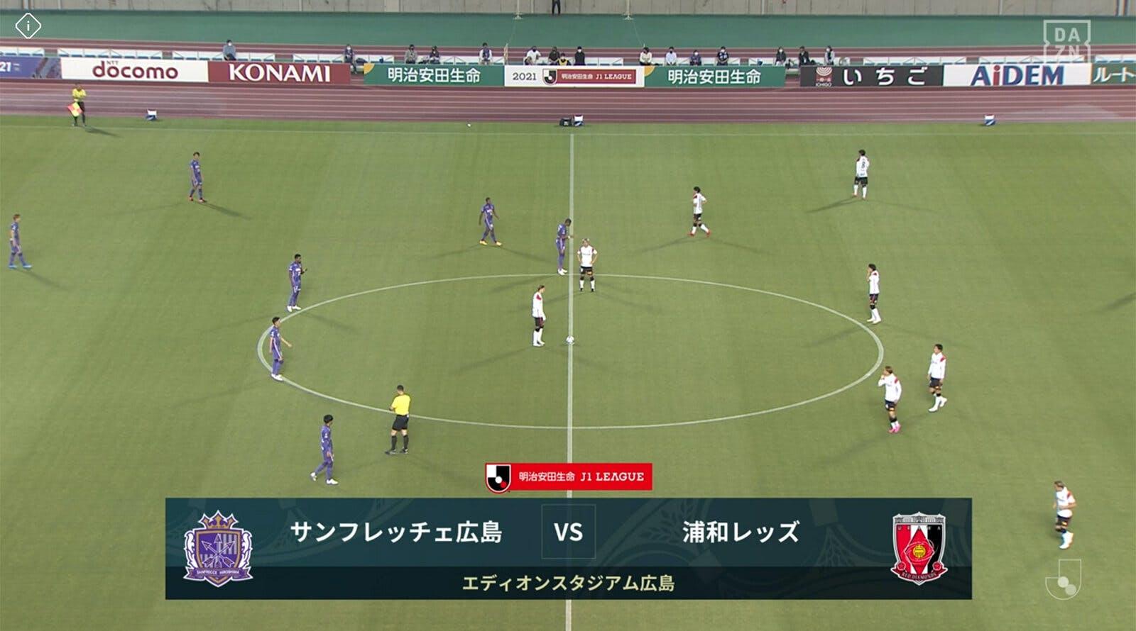 2021 Jリーグ 第16節 エディオンスタジアム広島 アウェー サンフレッチェ広島戦
